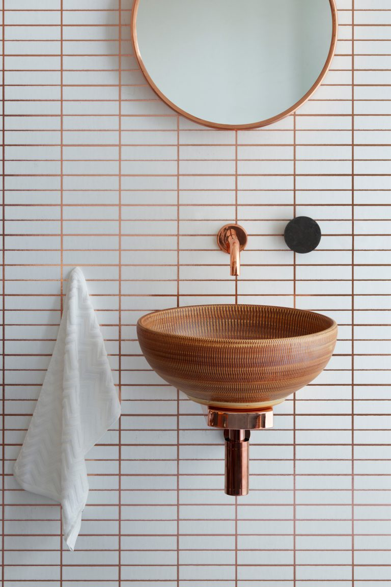 Aubrey Basin - For those of you who have embraced the trend for copper or terracotta tones in your home, the Aubrey Basin from The London Basin Company is the perfect finishing touch to your bathroom scheme. Featuring a textured basket weave detailing on bowl's surface, the Aubrey is a versatile basin choice that will help you to make a subtle yet impactful design statement.www.londonbasincompany.com