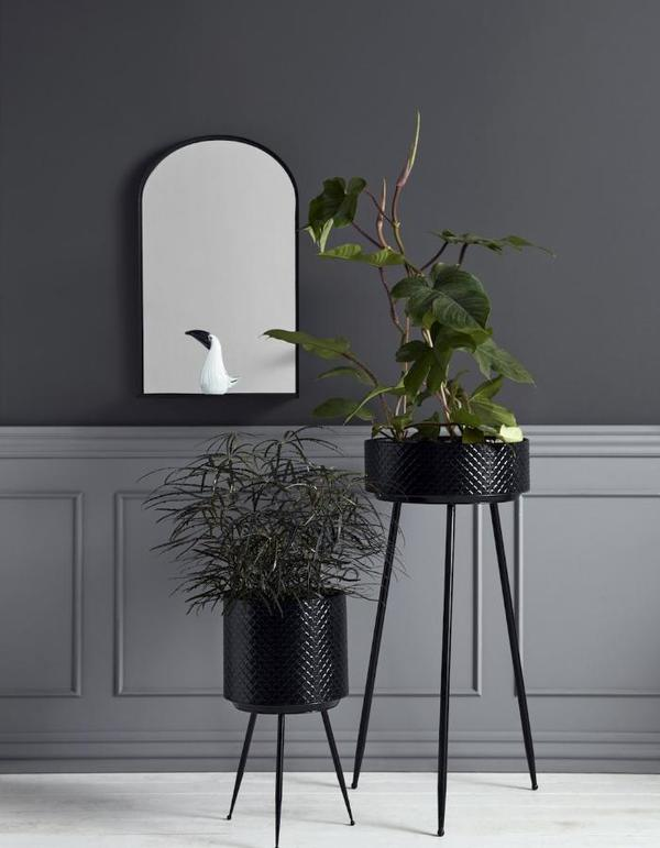 Forest & Co - Black Scalloped Embossed Iron Planters - £75.00