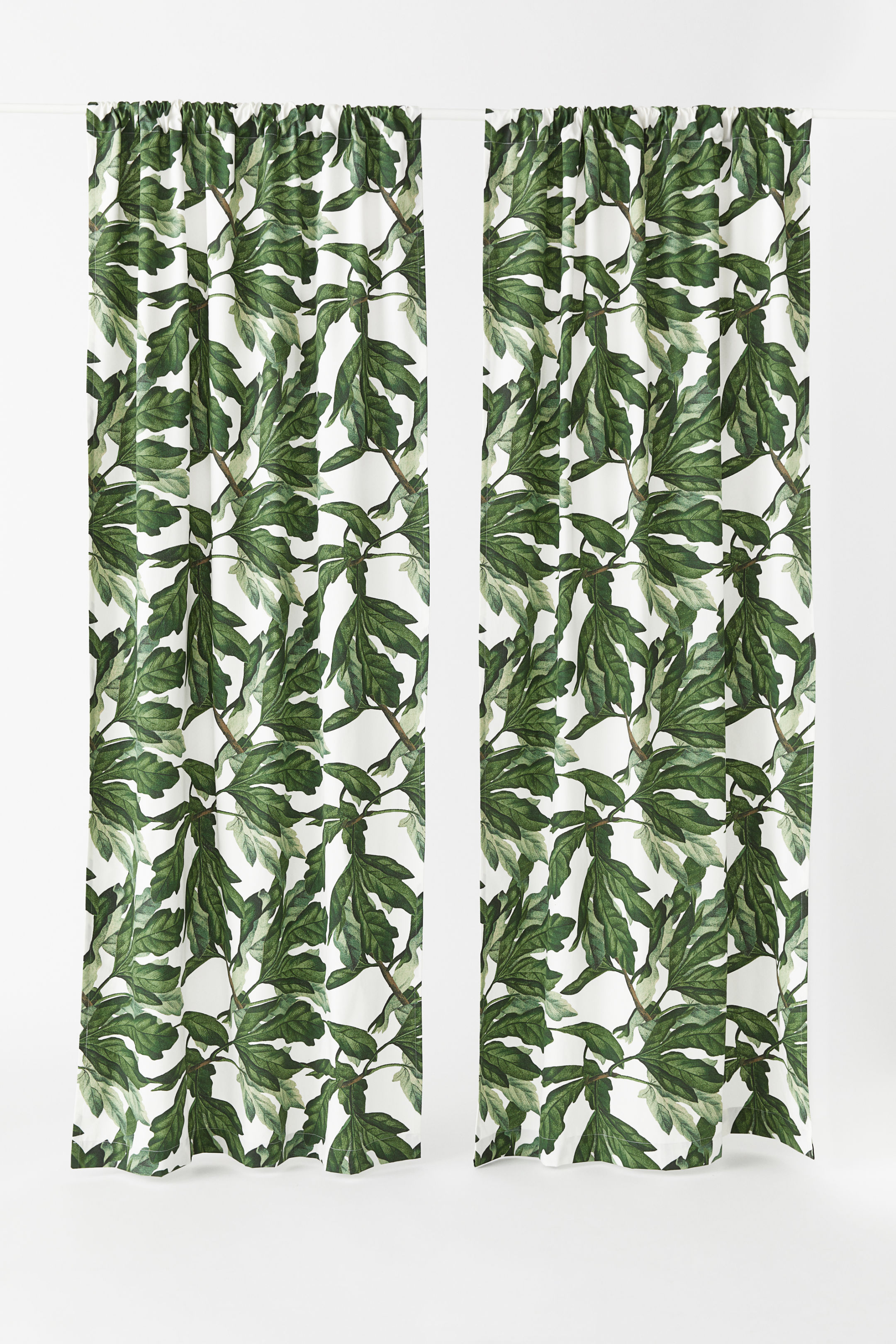 Natural White Fig Leaf Curtains - £24.99