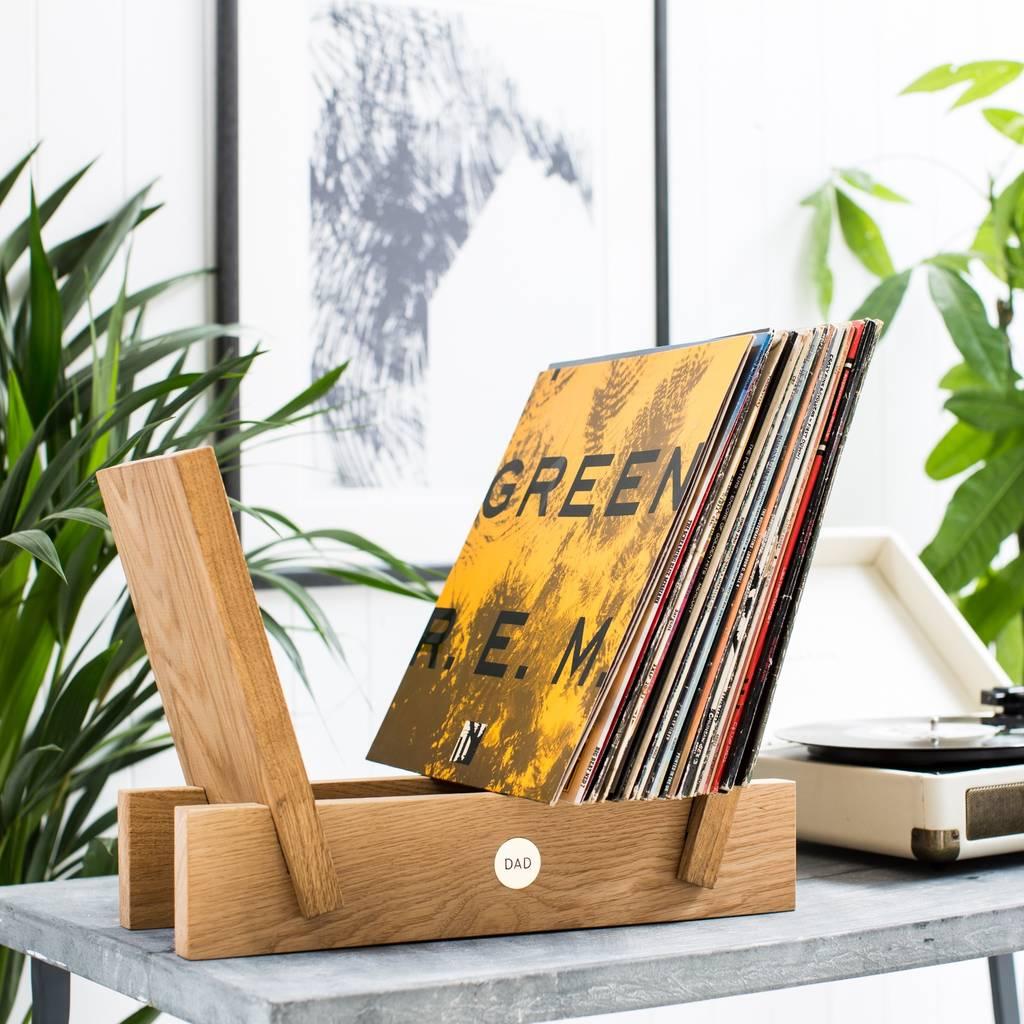 Not On The High Street - Personalised Oak and Brass Vinyl Storage Rack.jpg