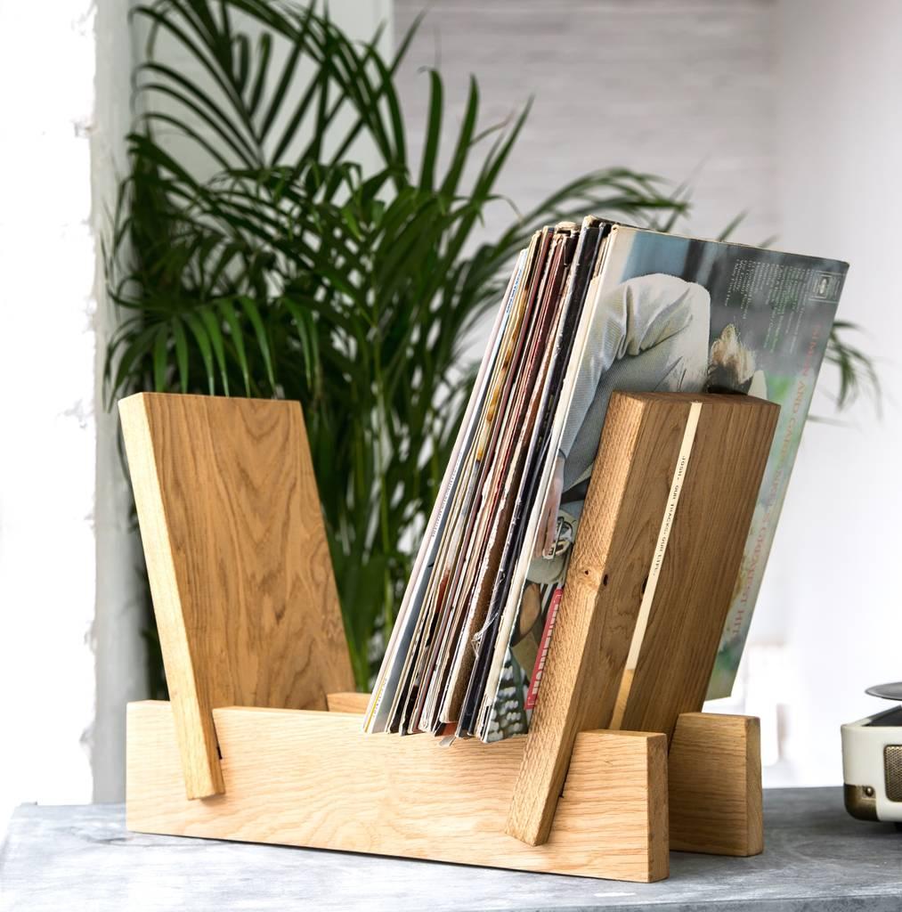 Not On The High Street - Personalised Oak and Brass Vinyl Storage Rack 2.jpg