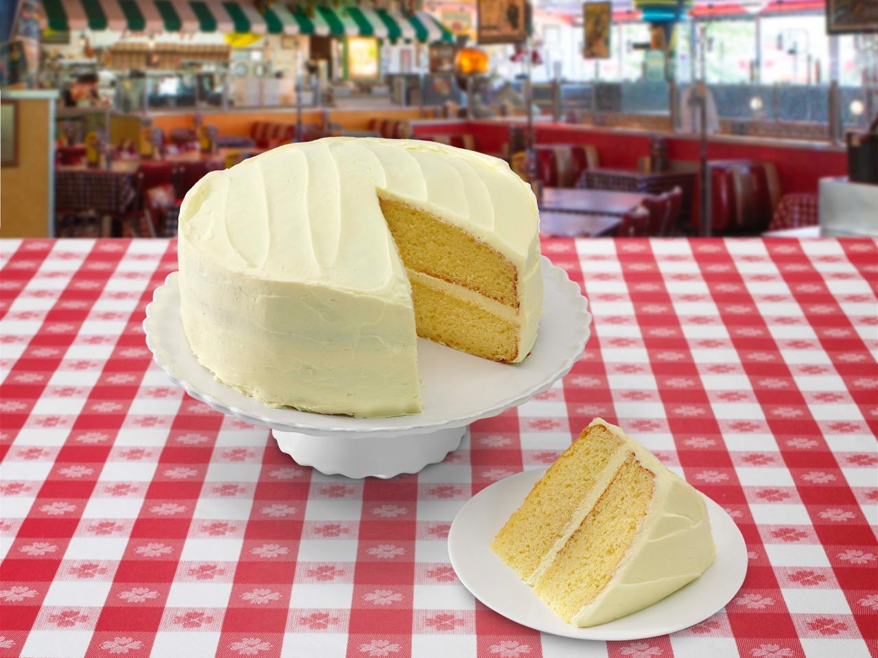 Portillo's delicious lemon cake!