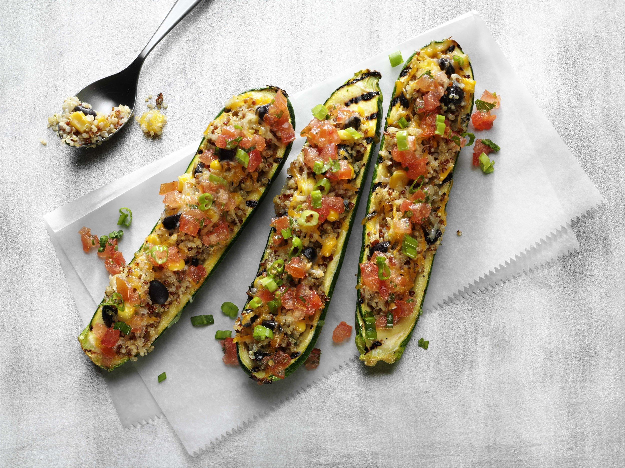 Quinoa Zucchini Boat Overhead no plate.jpg