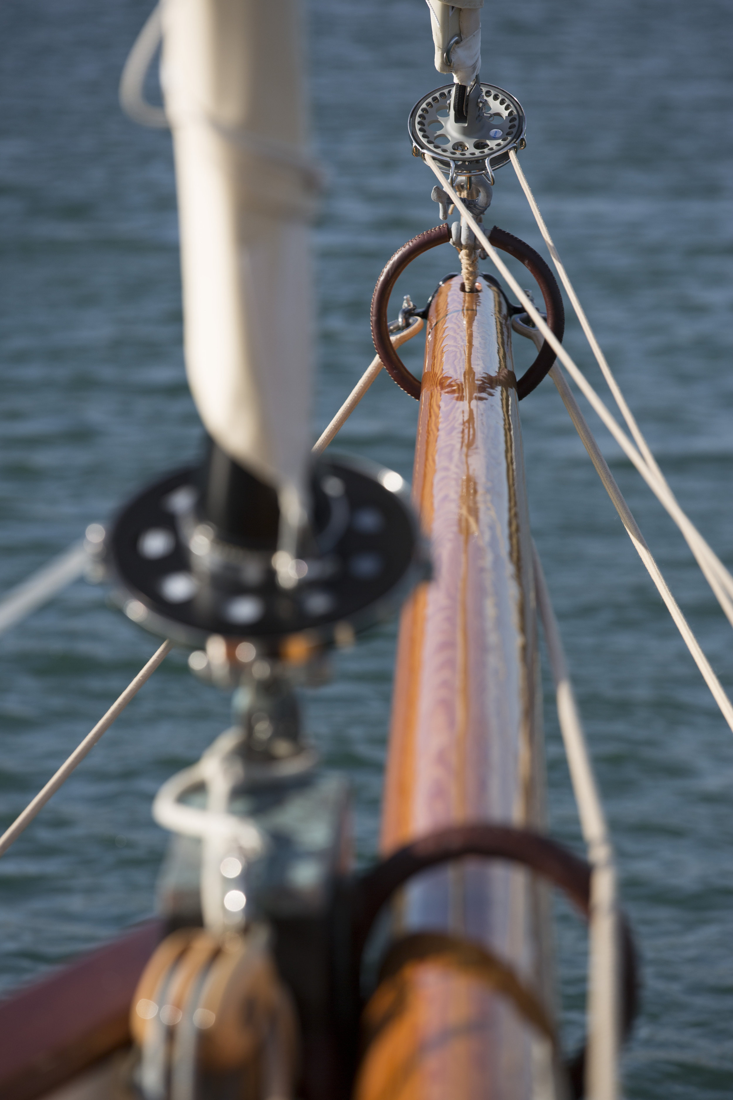 For ease Bonaventure is fitted with unobtrusive, endless line furlers on her headsails © Mark Lloyd