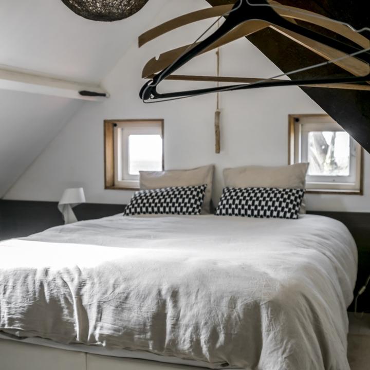 Slaapkamer Duivenhoekseweg 10 mini huis maxi geluk vakantiehuisje zeeland hulst