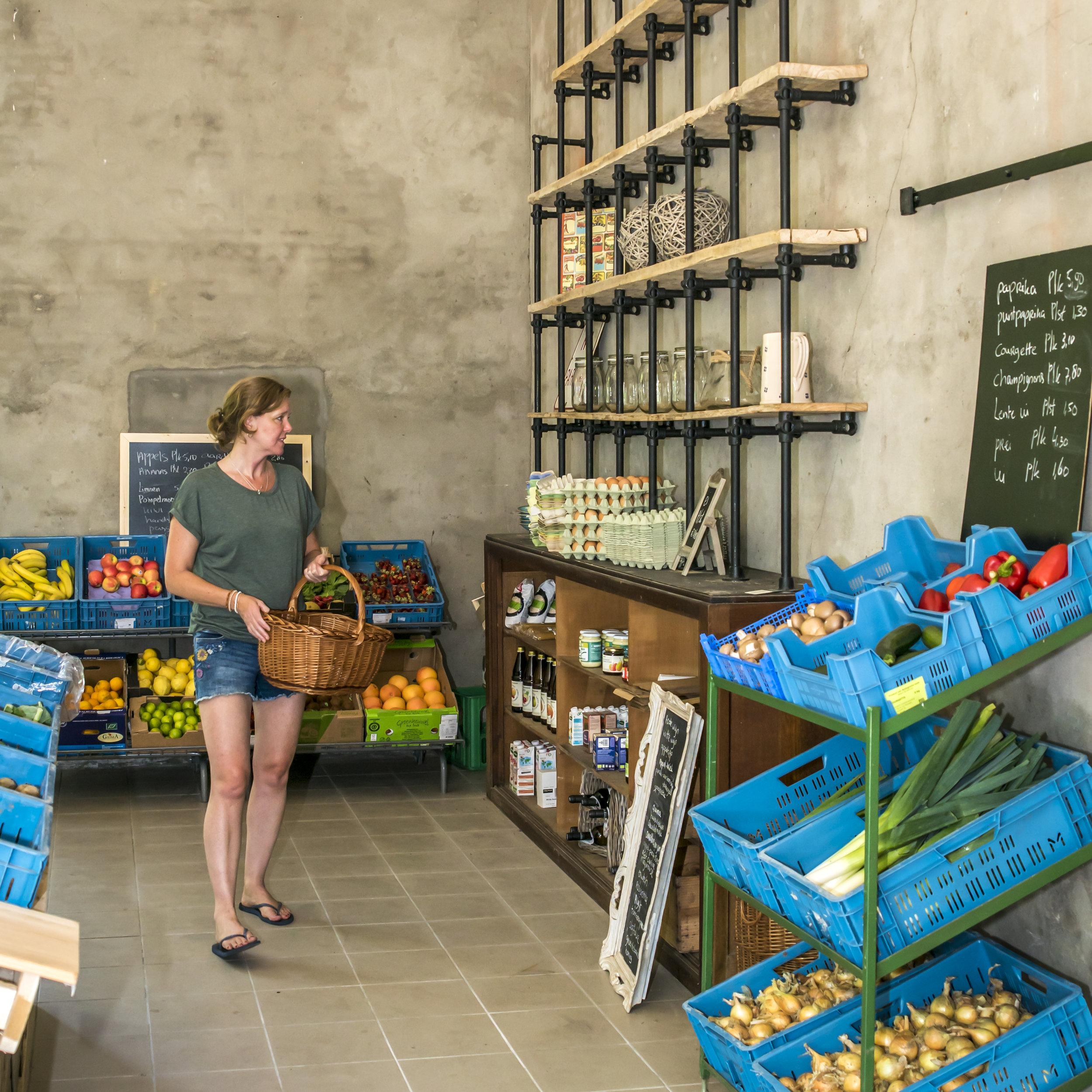 Biowinkel Voedselbron  Wil je ook de echte, pure groentesmaak nog eens willen proeven? Dat kan met de biologische groenten van Voedselbron. Vele groenten worden op een paar meter afstand van de winkel geoogst en zo zie je letterlijk waar de producten vandaan komen. Er is een uitgebreid groenten en fruit assortiment, van de boerderij, het  voedselbos  en aangevuld met producten van collega bioboeren uit de buurt. Ook zuivelproducten en droogwaar zijn er te krijgen. Het is zeker de moeite waard om eens de boodschapjes in de  biowinkel  te doen. -  Dwarsstraat 9, 4569 PB Graauw