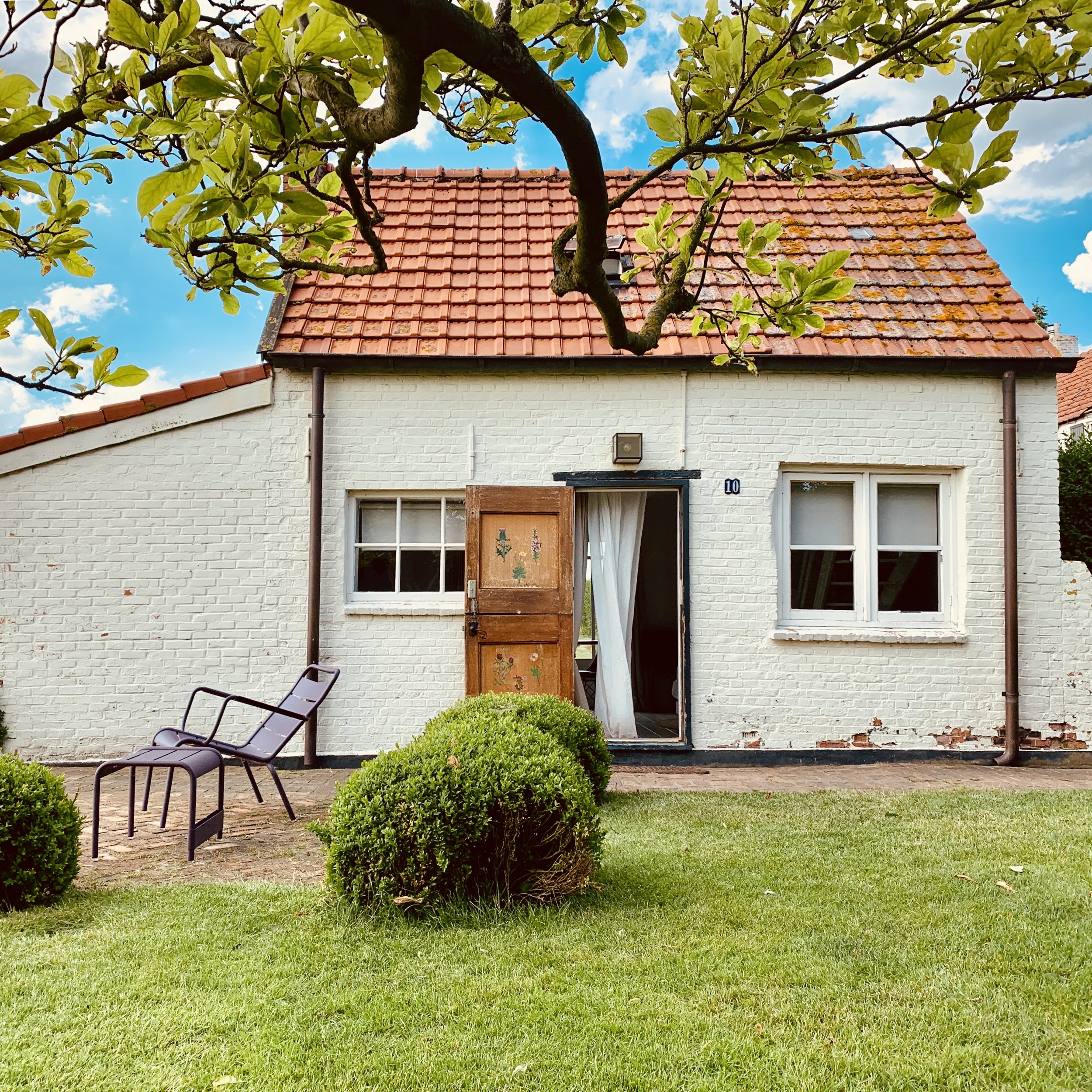 Ingang Duivenhoekseweg 10 mini huis maxi geluk vakantiehuisje te huur zeeland hulst