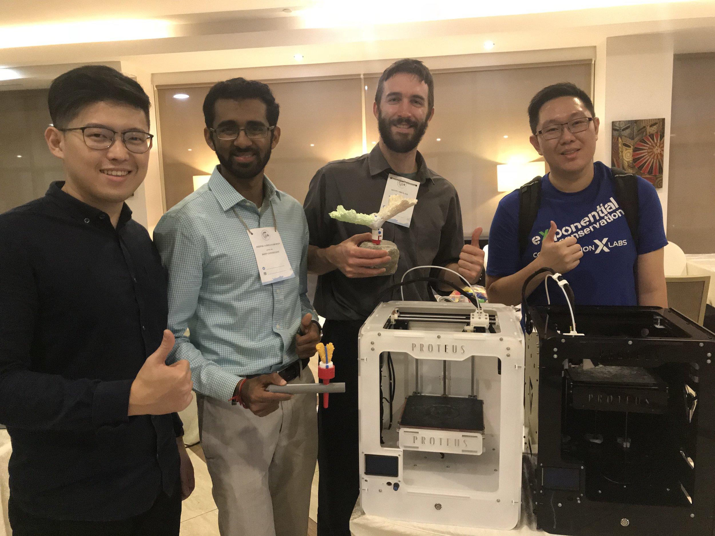 Team Aquamedics with Ivan and Nicholas of Proteus 3D printing company.