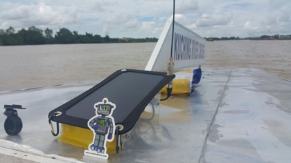 SuperFISHALL device on a boat in Kuching.