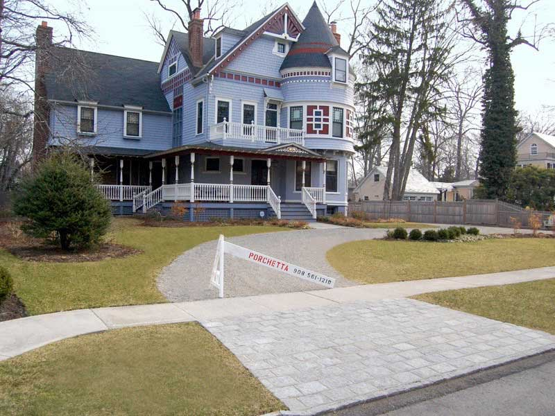Driveway with Apron Pavers in Westfield NJ