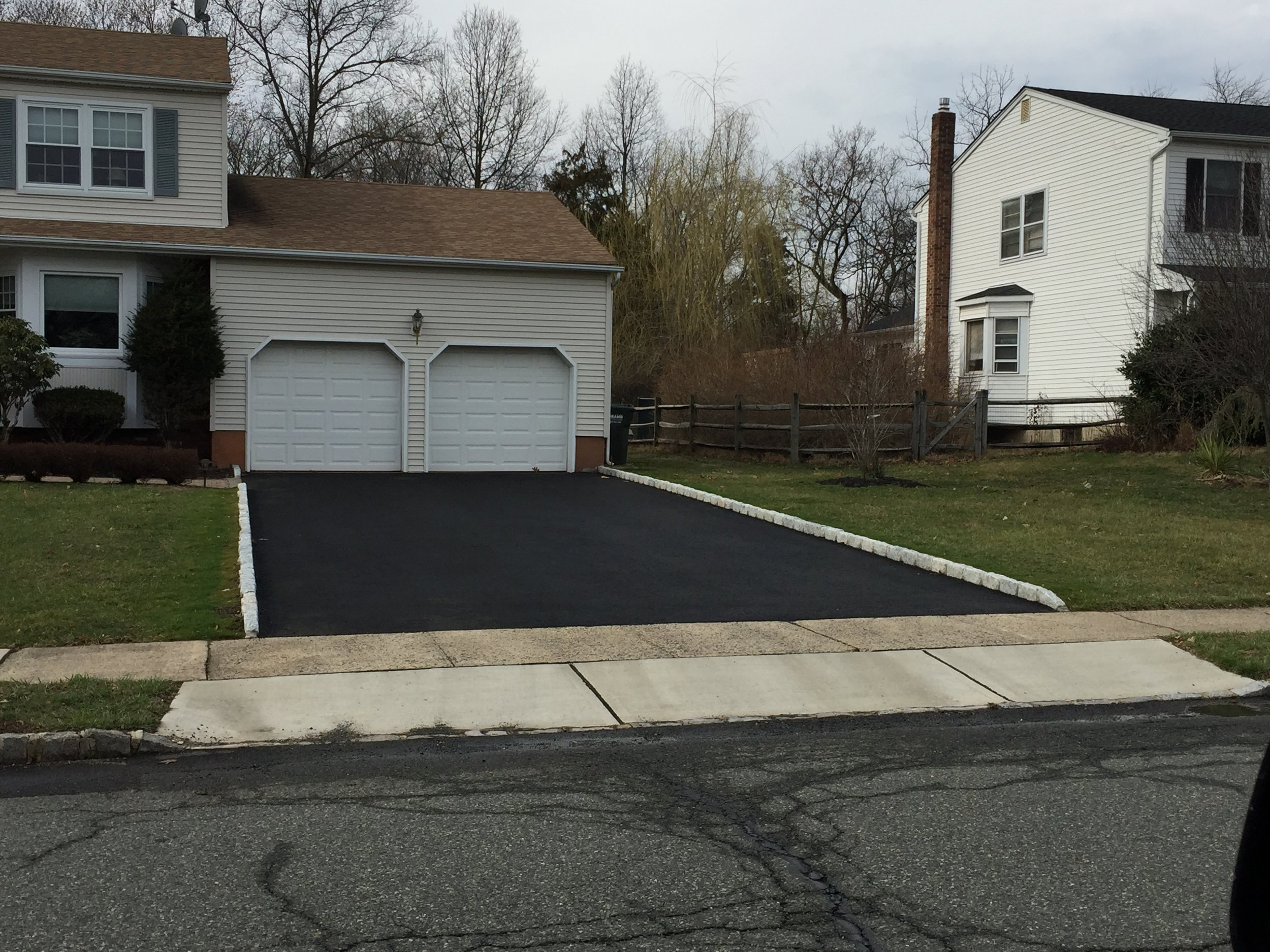 Curbing and Paving Double Car Asphalt Driveway in Hillsborough, NJ