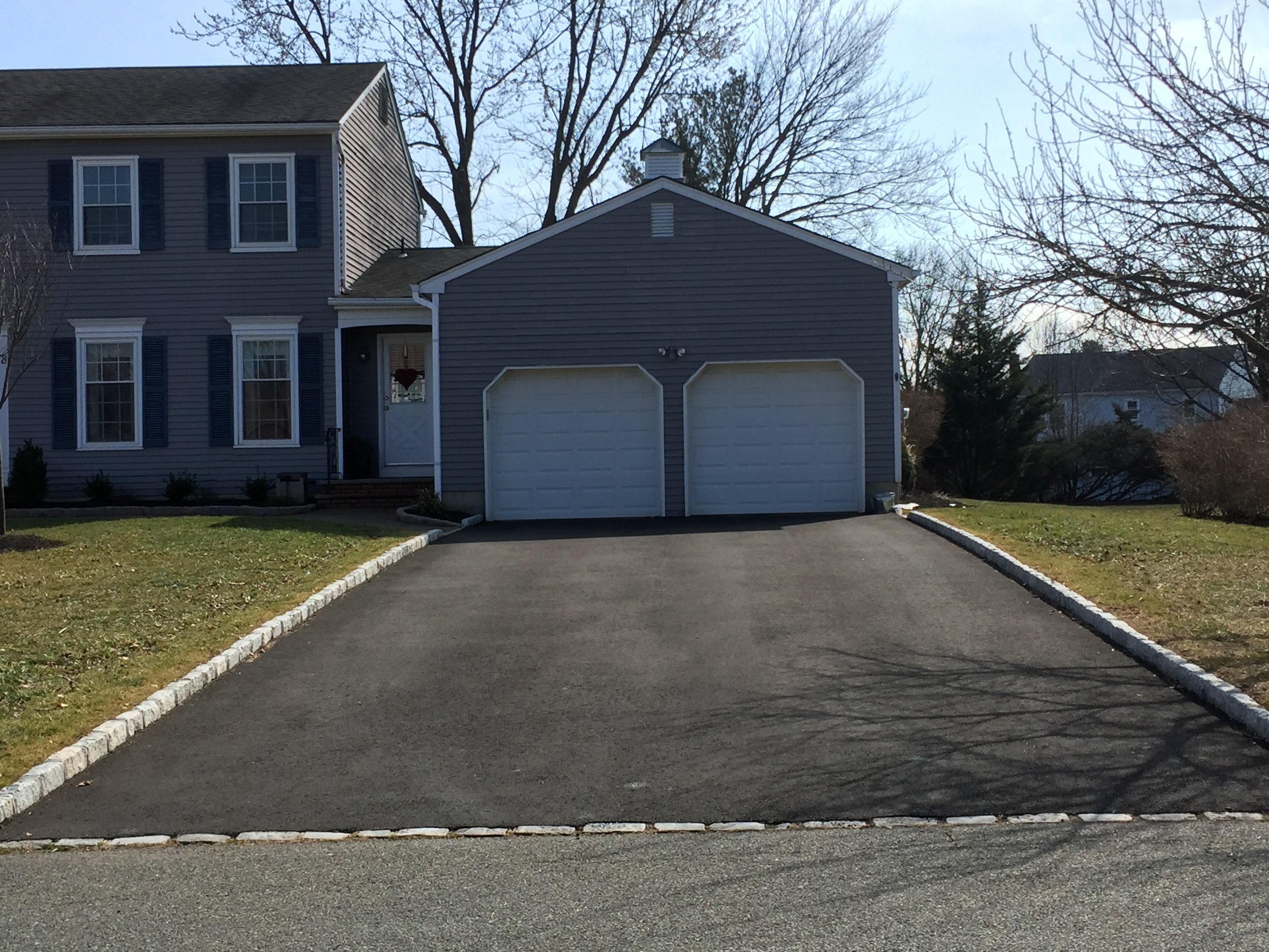 Two Car Garage Driveway Paving and Curbing Contractor in Skillman, NJ