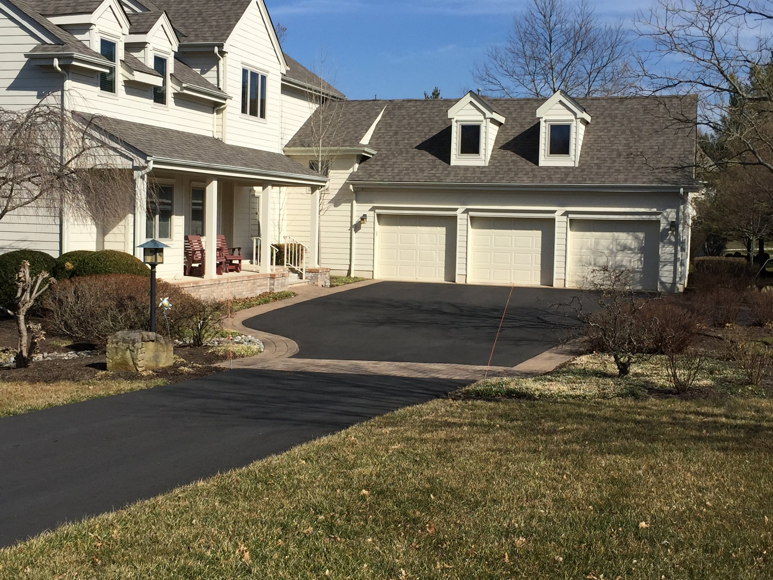 Three Car Garage Driveway Paving and Curbing Contractor in Skillman, NJ