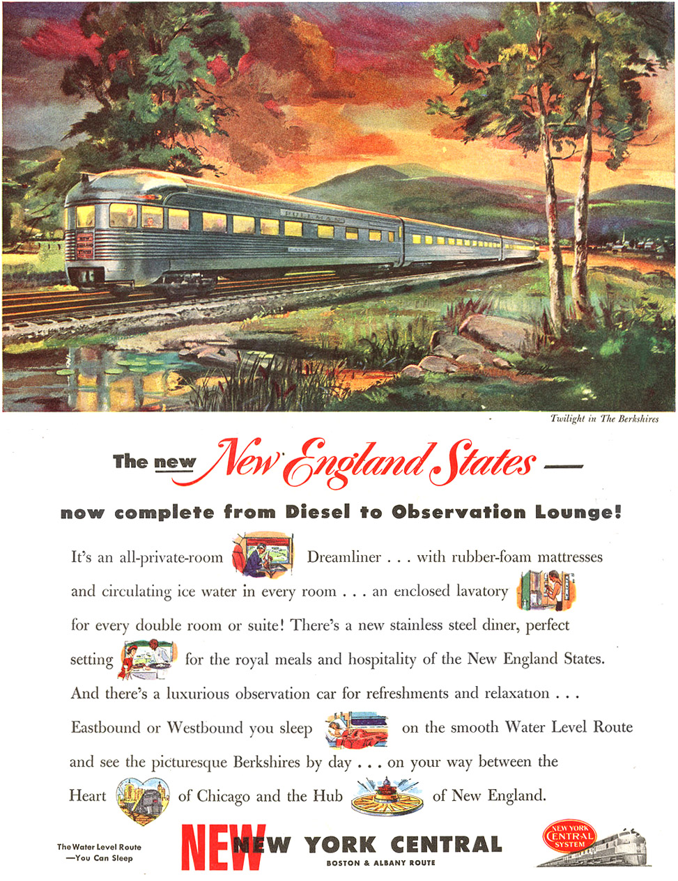 Original 1949 NYC ad for the new  New England States  equipment.