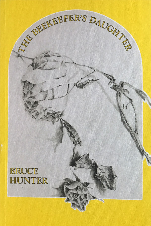 (Image: Yellow cover of  The Beekeeper's Daughter  featuring a stylised grave stone with a rose vine.)