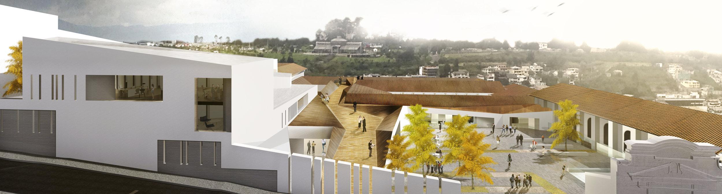 Edificio para la sede de la ONU. Quito, Ecuador.