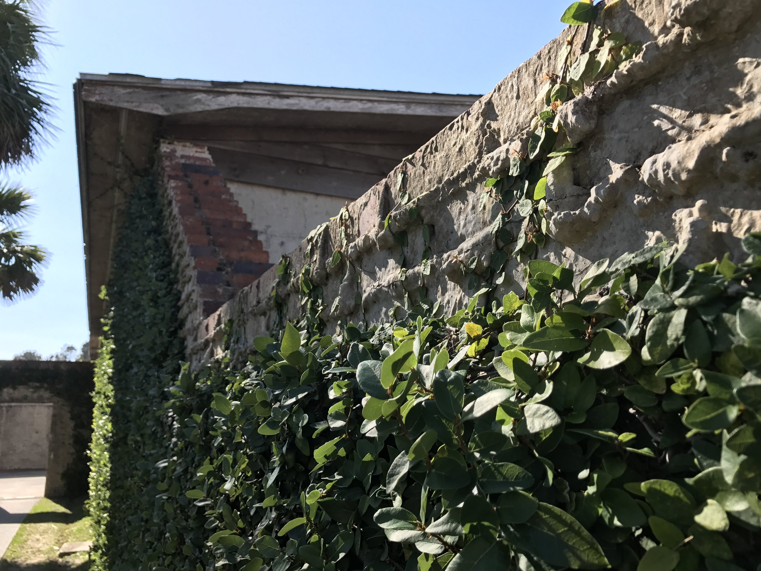 Outer wall of the stable