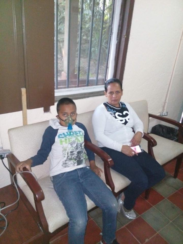 Juan is 11 years old and has asthma. People here can not afford their own nebulizer so they come to the clinic when they can not breathe.