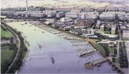 A rendering from Anacostia Waterfront Initiative Framework Plan