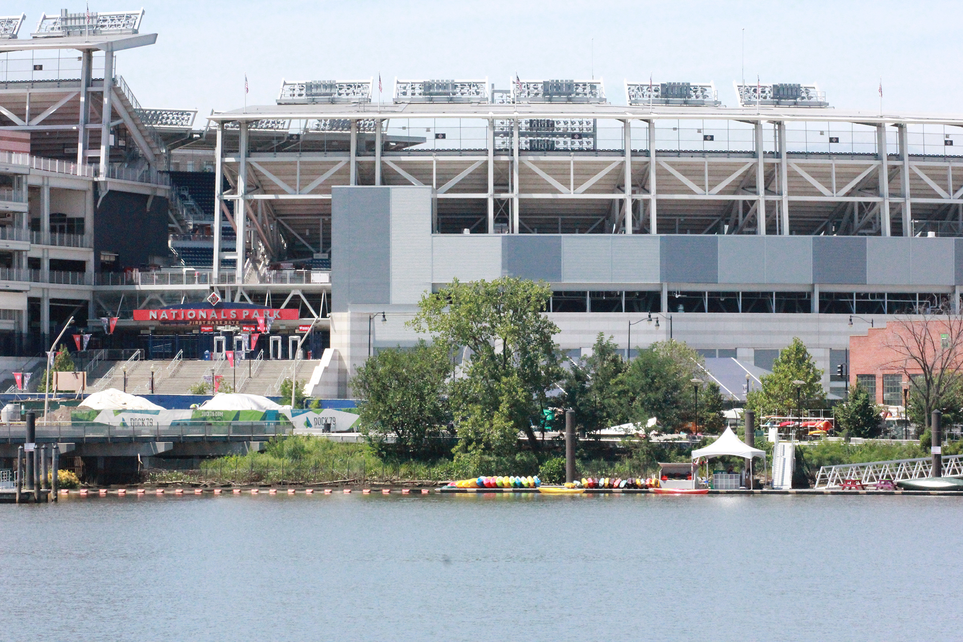 Waterfront access adjacent to the stadium.