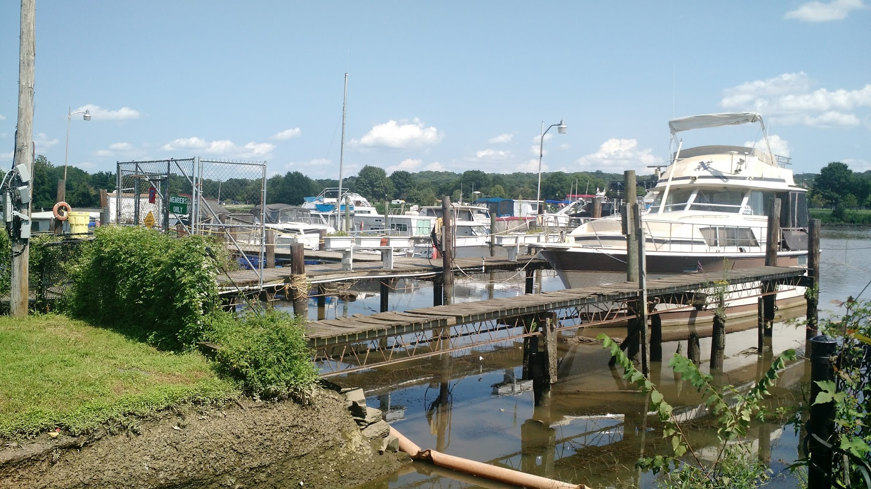Many vessels at the Seafarers docks are unable to move during low tide due to silt.