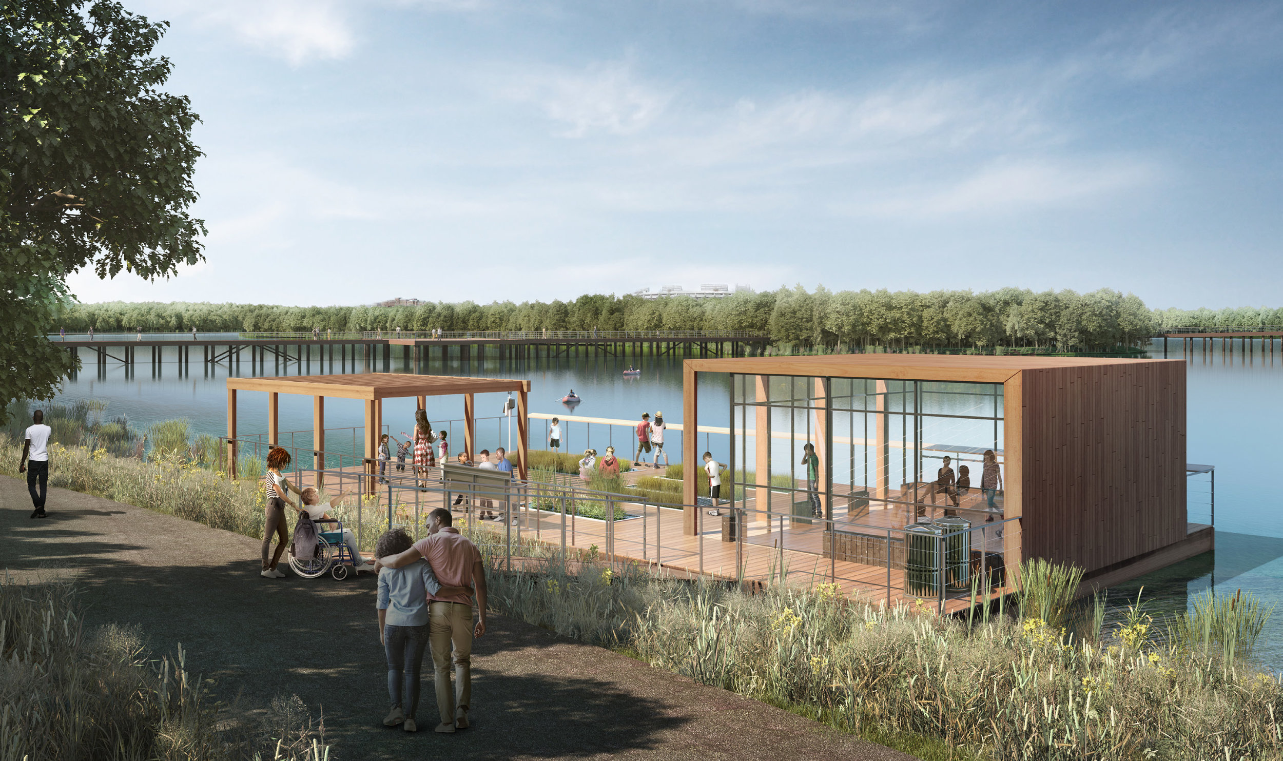A floating environmental laboratory is part of the DOEE master plan for the island.  Image: DOEE