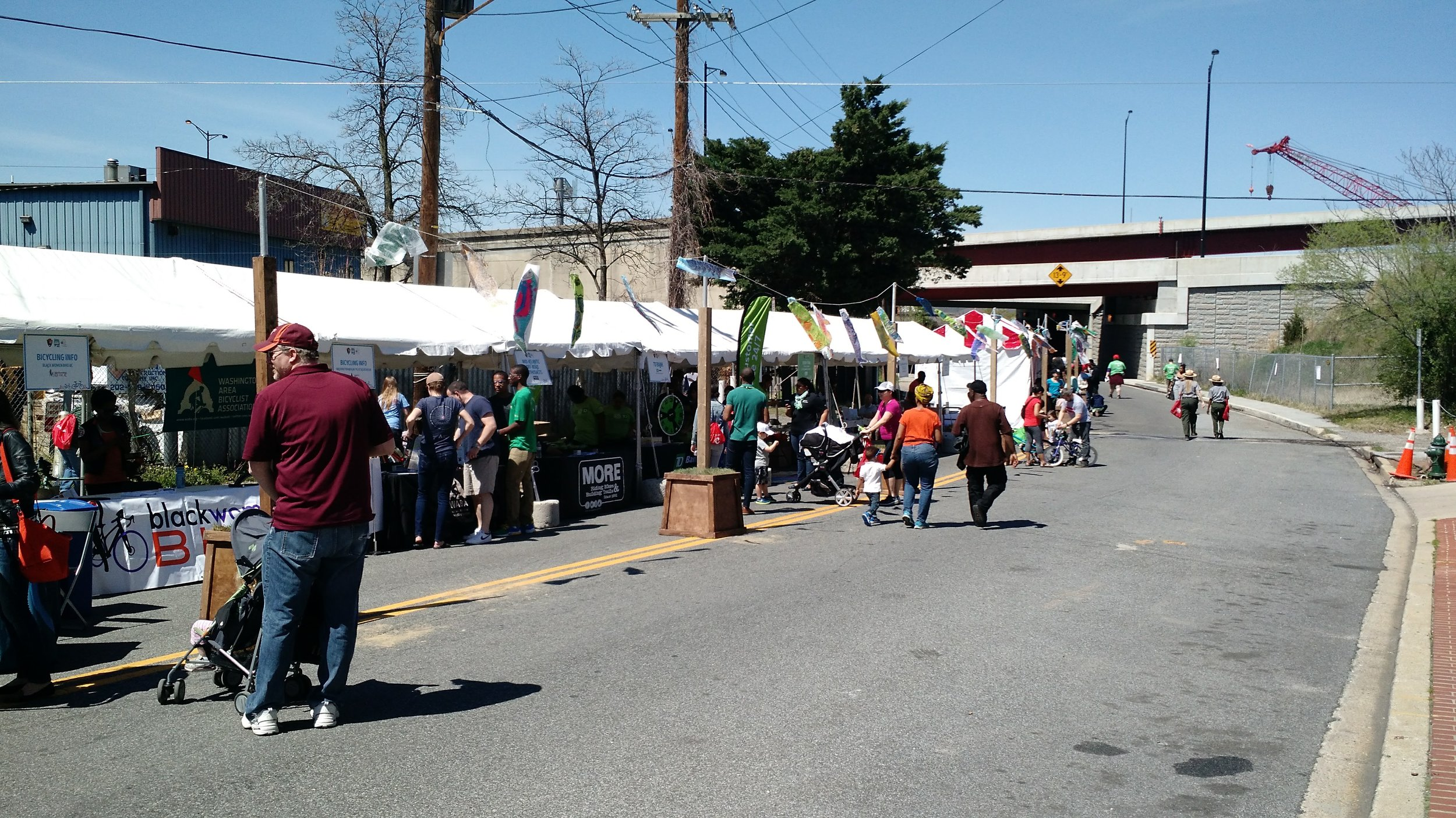 The annual Anacostia River Festival enlivens the street that leads into the park from Historic Anacostia.