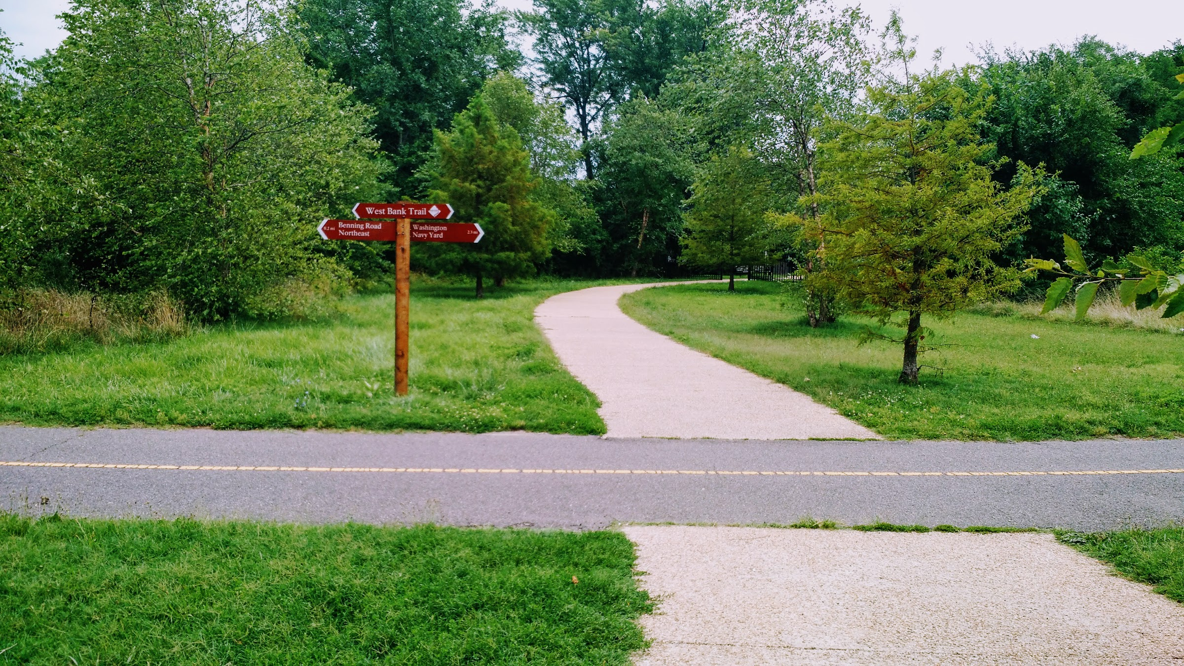 Signs along the Anacostia RiverWalk Trail are now spread across the waterfront and let you know how far you have to go until the next destination.