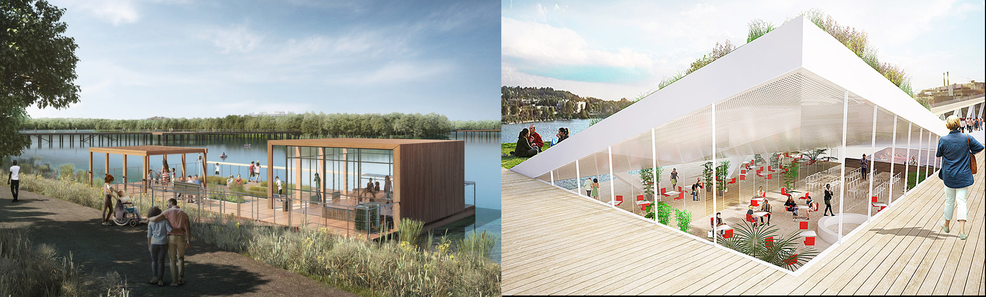 Both the 11th Street Bridge Park and the Kingman Island plans include an environmental education center (right and left, respectively). There is already an existing center in Anacostia Park. How will they be different? How will they relate to each other?