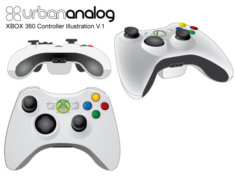 XBOX Controller designed in Adobe Illustrator