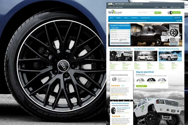TireBuyer - Online business to consumer ecomm. We helped them re-launch and lead the charge for mobile optimization.