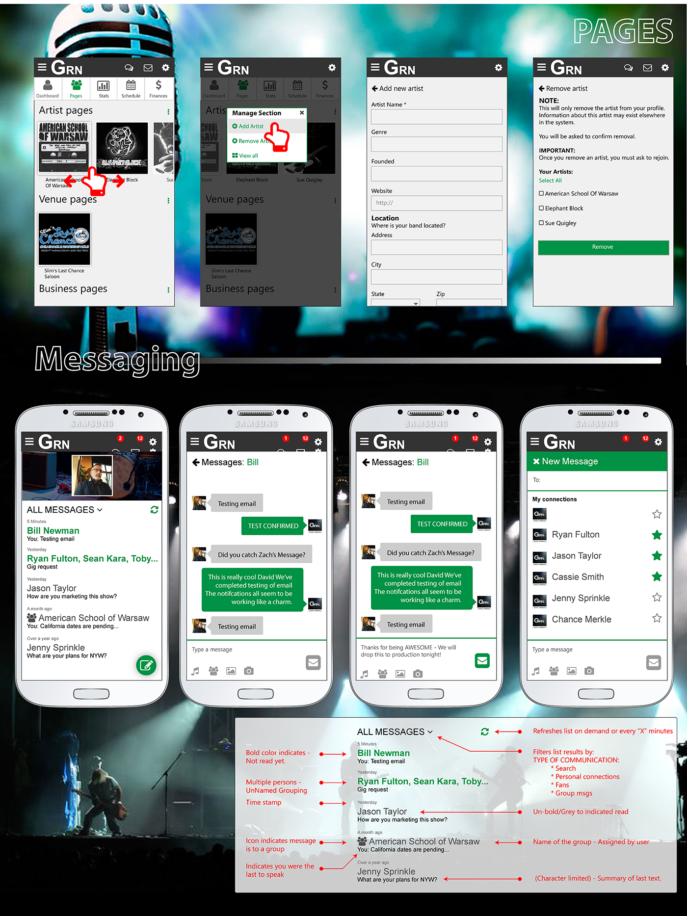 GoodRoadNetwork: Mobile chat application that was integrated into the mobile version of the project.