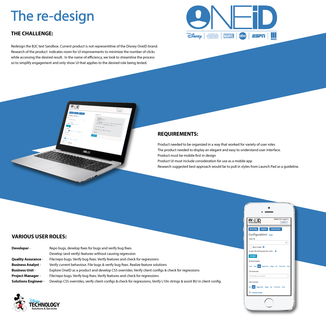 Disney - Conceptual redesign exploration for public facing sandbox product. While it was not implemented - It was selected to be presented for World Usability Day.