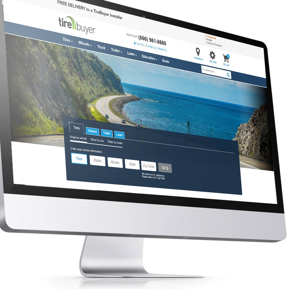 TireBuyer Lead UX - A sample of UX work done for Seattle based B to C company - Tirebuyer.com