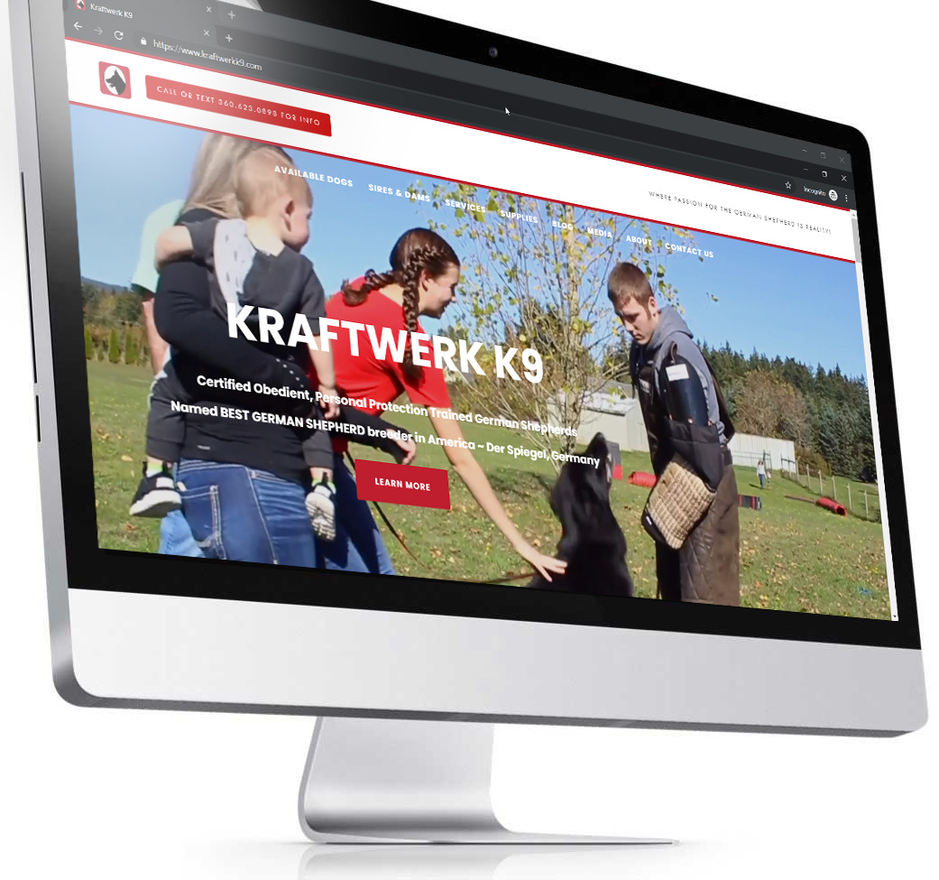 KRAFTWERK K9 - SERVICES: SEO, SEM, WebsiteTrained Personal Protection German Shepherds