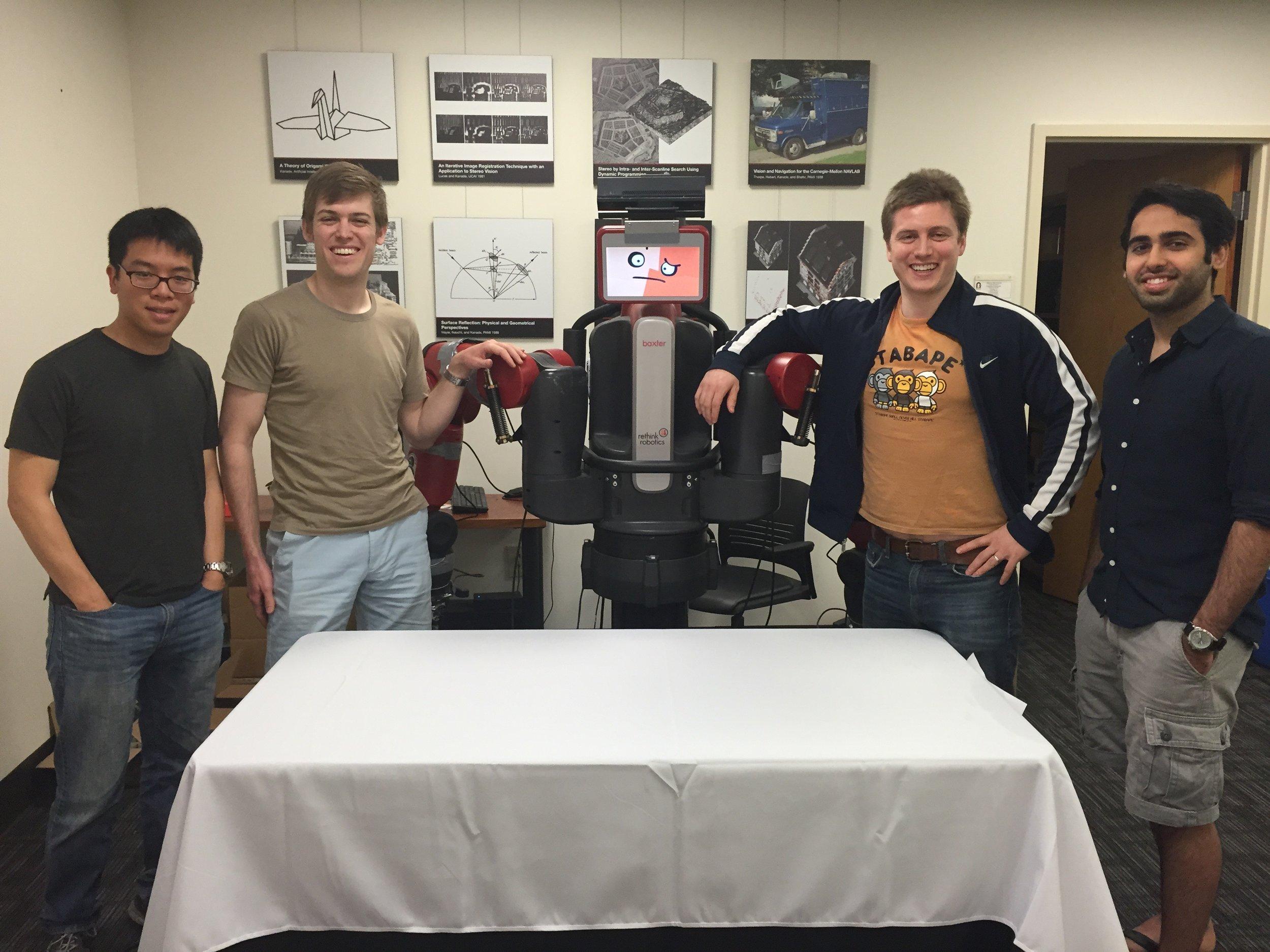 Alvin Chou, Gene Merewether, Mitch Kosowski, Gautam Narang - Robotics Engineers