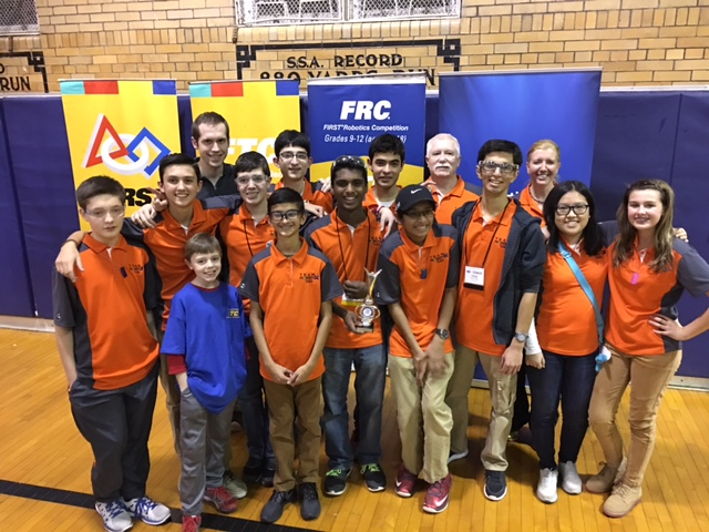 Team 3: FIRST Tech Challenge Team 7060   Team RobotiX, the nonprofit, was started as a result of this FTC team. They formed a 501 (c)(3) to help other teams and provide outreach to the community.  This team has won many awards and tournaments over the past four years. What an amazing group of kids!