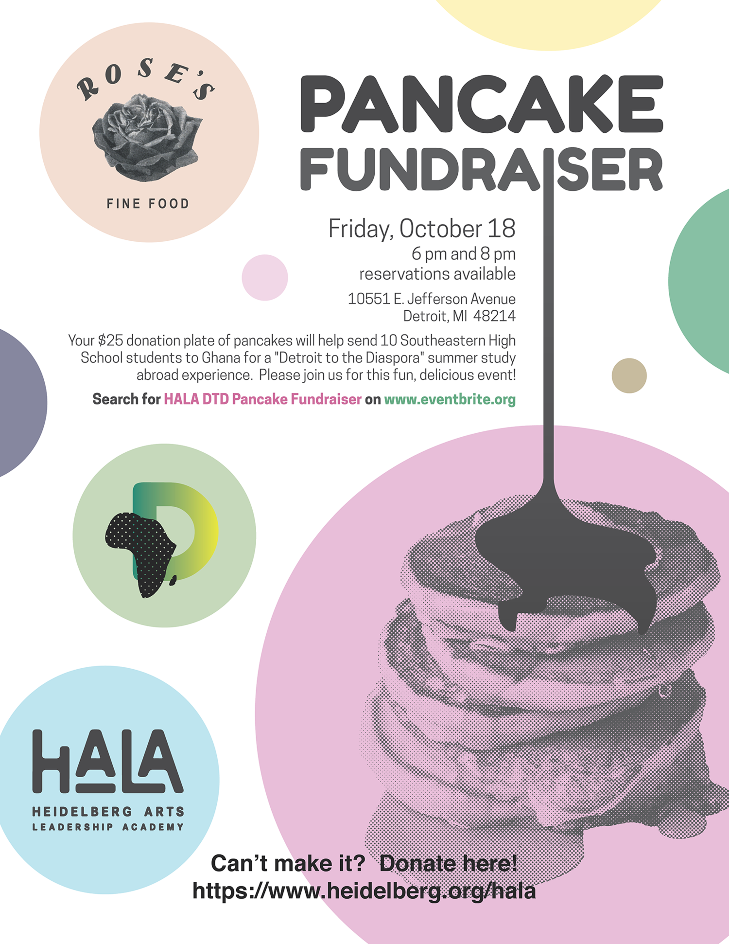 HALA Pancake Fundraiser