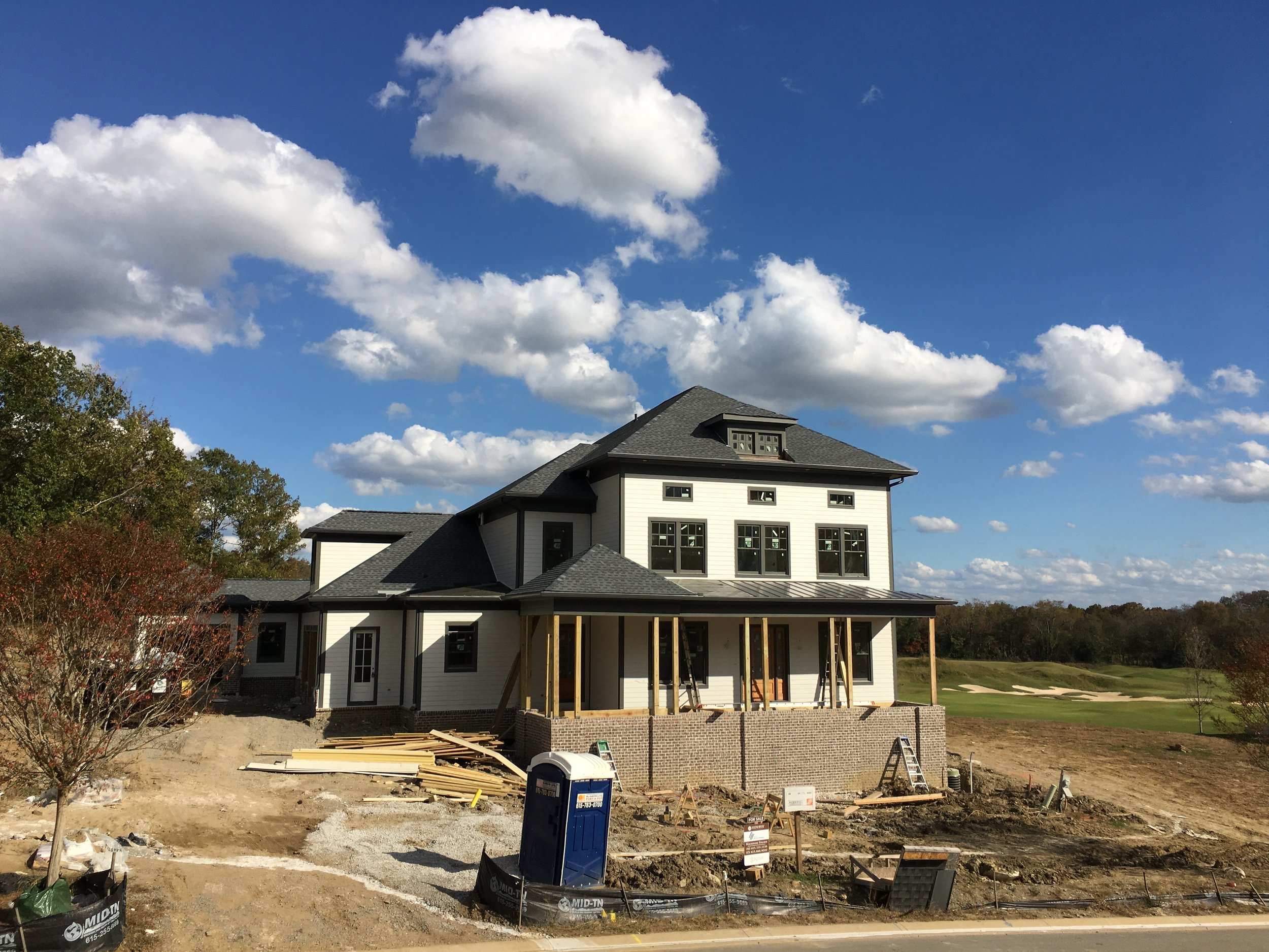 Available home with golf course views. Currently under construction.