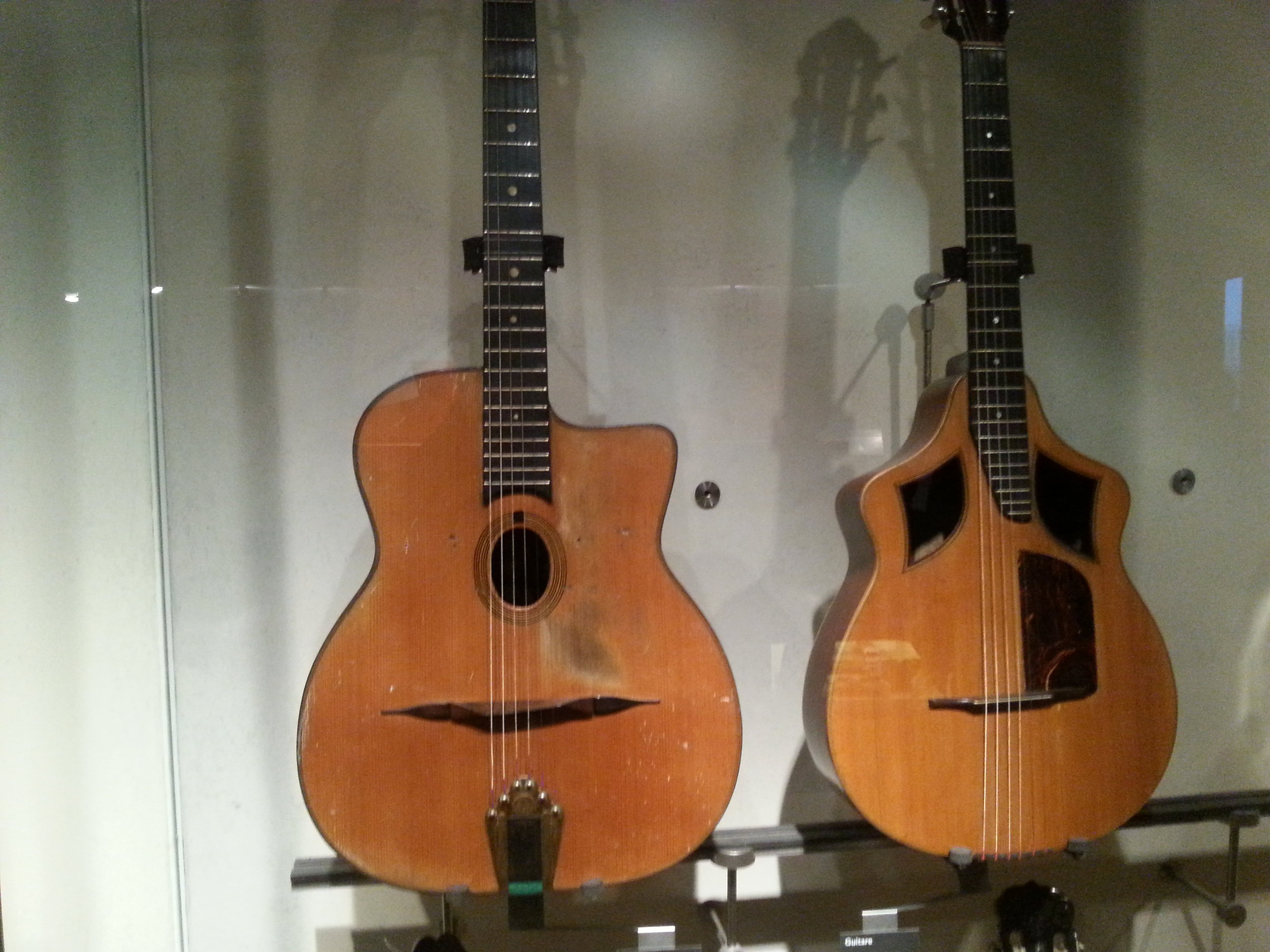 Here we see some cool Gipsy guitars!