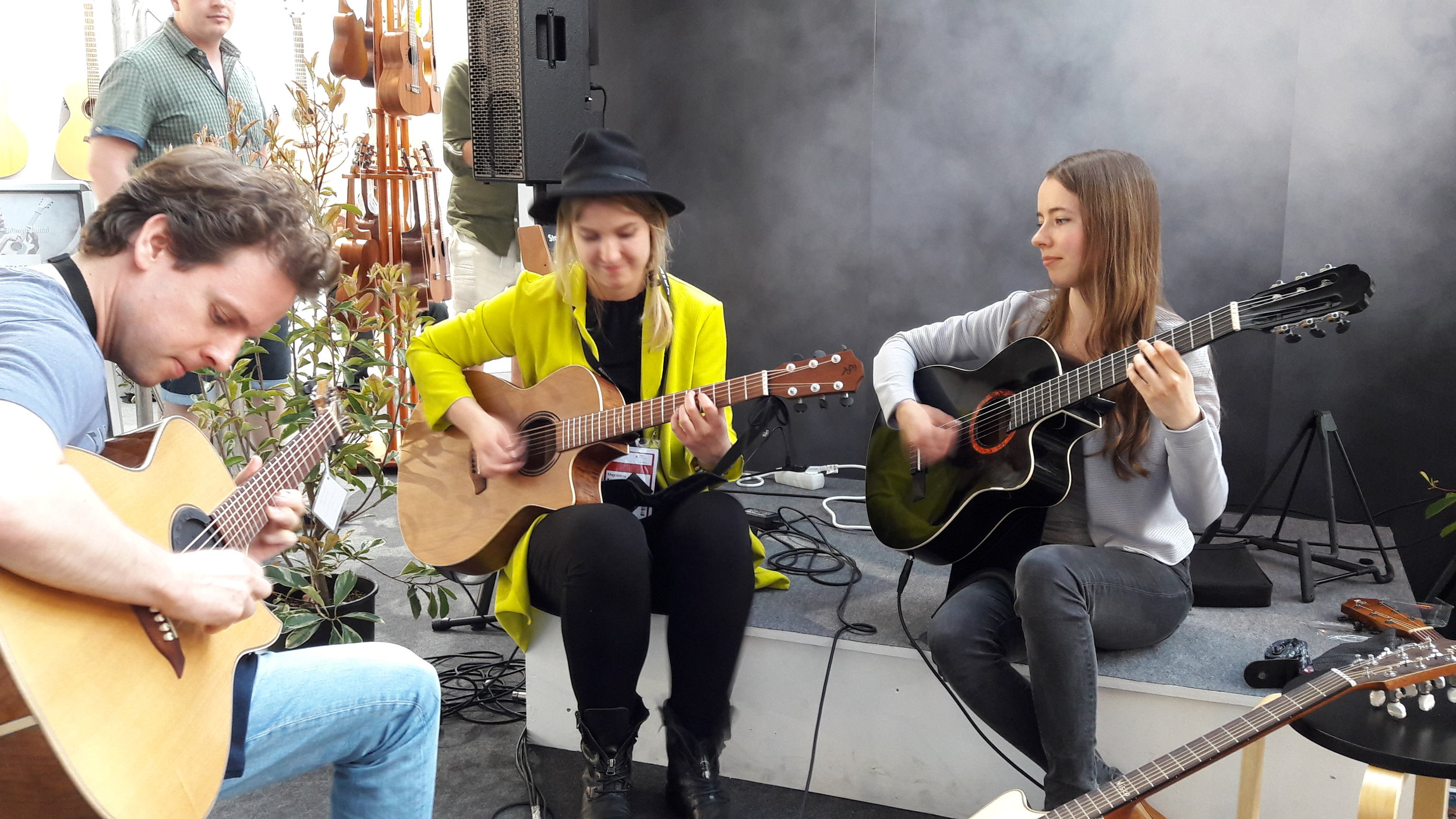 Jamming about, Wim den Herder, Magdalena Kowalczyk and Julia Lange