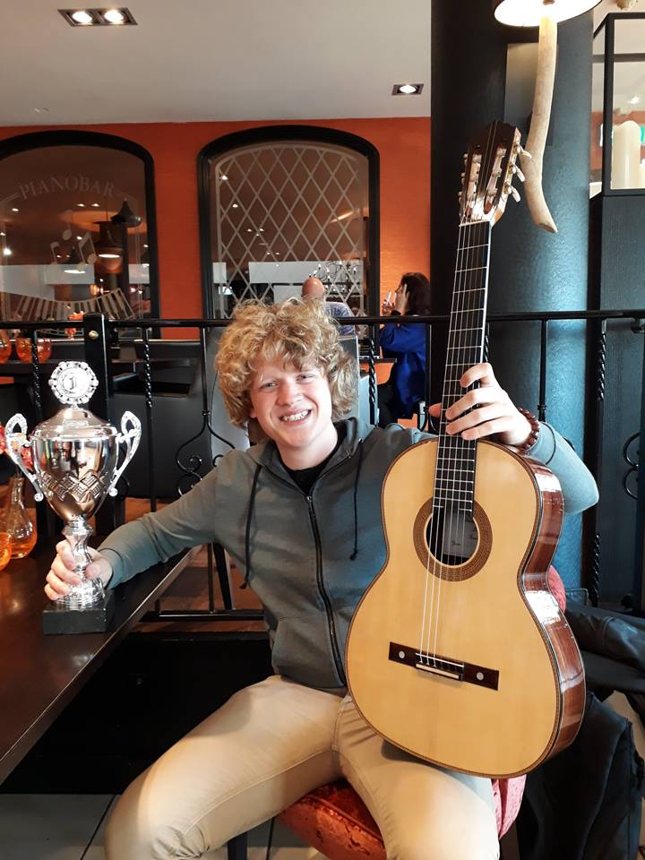 1 Prize for Best Luthier on Guitar Meeting 2017. Kootwijkerbroek, Netherlands