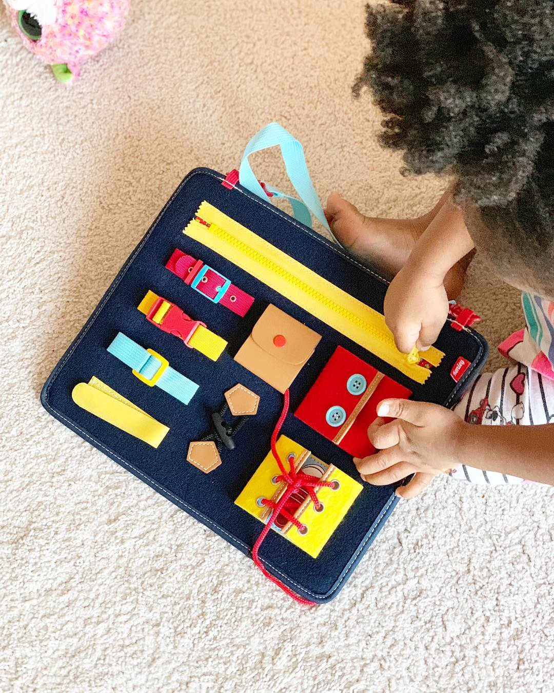 Montessori Basic Skills Activity Board for Fine Motor Skills