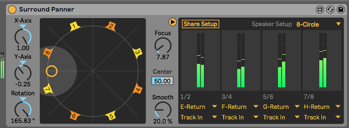 Figure 30 – Max for Live's Surround Panner, 2019.