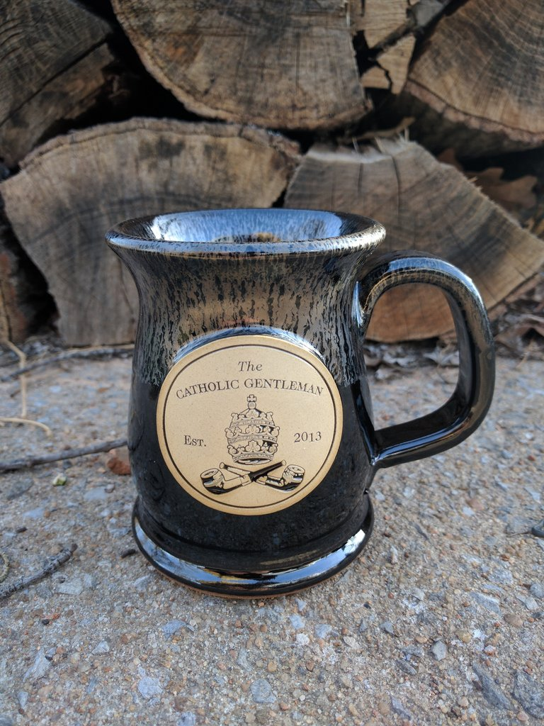 Anything from The Catholic Gentleman - Pick up a stoneware coffee mug, a short sleeve tee, or beard oil from the Catholic Gentleman shop! Be a man. Be a saint.