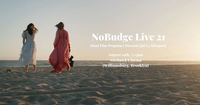 👖🥿💍🦋💦💧🌊🥣🎭🧩🚙💎💙🌀🔹 Only a few tickets left for #nobudgelive 21 screening at @nitehawkcinema Williamsburg. Come see #tlatfmovie alongside some amazing shorts up on the big screen and party with us!  AUGUST 19th 7:15pm. See you soon, NYC. Link for tix in bio!