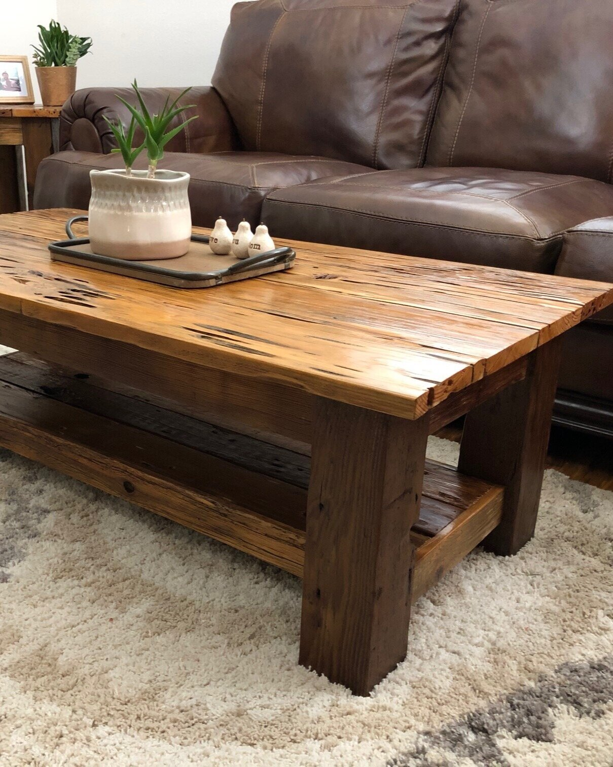 Picture of: Reclaimed Wood Coffee Table With Black Tubular Steel Legs 2 Sizes Sierra Studios Woodworks