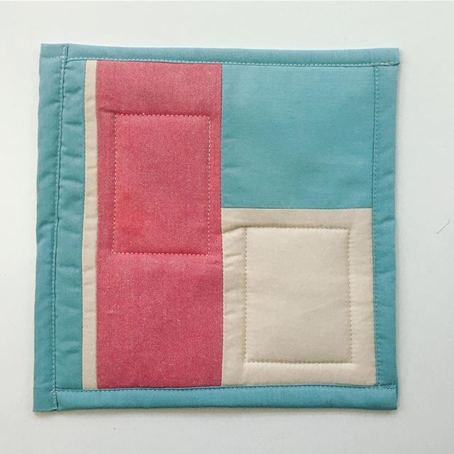 hi this is so far from perfect and yet it is my favorite thing I've made in awhile. potholder from scraps, lined with a towel and quilt batting. . . . . #handmade #handmadeisbetter #recycled #upcycled #reducereuserecycle #salvaged #madeinmn #mnmade #work #wip #daily #craftsposure #makersmovement #sewing #quilting #quilt #quiltsofinstagram #quiltersofinstagram #quiltblock  #modernquilt #modernquilting #patchwork #improv #improvquilting