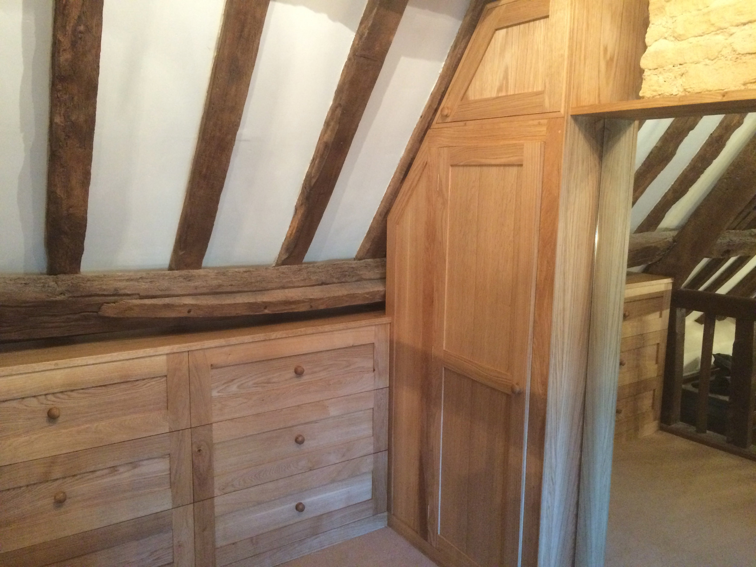 Fitted oak dressing room