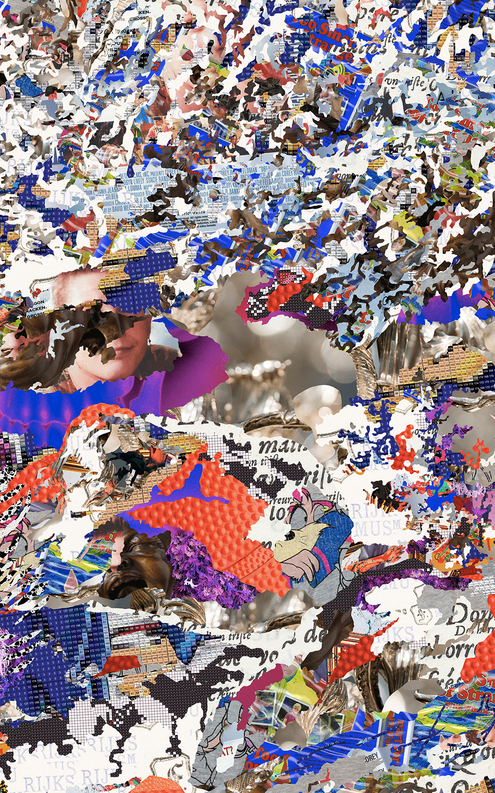 Case Simmons, Simmons & Burke, Blue JuJu, Dutchmasters, Kohn Gallery, Pigment Print, Digital Collage, Digital Art, Photoshop Collage, Contemporary Collage, Photoshop Actions, Case Simmons Art, Collage Fine Art, Digital Landscape